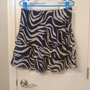 Whbm animal print silk skirt nwot